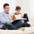 glimlachend · student · jongen · lezing · boek · home - stockfoto © dolgachov