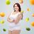 幸せ · プラスサイズ · 女性 · 下着 · リンゴ - ストックフォト © dolgachov