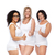group of happy plus size women showing thumbs up stock photo © dolgachov
