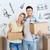 couple · grand · carton · cases · déplacement · nouvelle · maison - photo stock © dolgachov