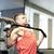 gespierd · man · werken · fitness · machine · gymnasium - stockfoto © dolgachov