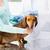 közelkép · állatorvos · készít · vakcina · kutya · klinika - stock fotó © dolgachov
