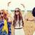 feliz · hippie · amigos · cereal · campo - foto stock © dolgachov