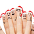 handen · vingers · gezichten · gebaar - stockfoto © dolgachov