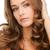 frizura · vonzó · barna · hajú · nő · imádnivaló · arc - stock fotó © dolgachov