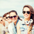 legal · adolescentes · óculos · de · sol · sessão · rua · cidade - foto stock © dolgachov
