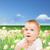 若い女の子 · 花 · 笑みを浮かべて · 子供 · 幸せ - ストックフォト © dolgachov