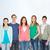 groep · glimlachend · studenten · permanente · onderwijs · mensen - stockfoto © dolgachov