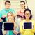 glimlachend · studenten · scherm · onderwijs · technologie - stockfoto © dolgachov