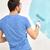 manitas · pared · pintor · azul · Cartoon · ilustración - foto stock © dolgachov