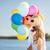 família · colorido · balões · verão · férias · celebração - foto stock © dolgachov