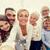 boldog · család · elvesz · otthon · család · technológia · generáció - stock fotó © dolgachov