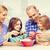 familia · feliz · cena · cocina · alimentos · familia - foto stock © dolgachov