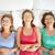 felice · giovani · donne · cetriolo · maschera · letto · persone - foto d'archivio © dolgachov