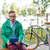 sad young hipster man with tablet pc and bike stock photo © dolgachov