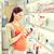 mutlu · hamile · kadın · ilaç · eczane · gebelik · tıp - stok fotoğraf © dolgachov