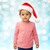 beautiful little baby girl in christmas santa hat stock photo © dolgachov