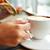 女性 · 食べ · 朝食 · 飲料 · コーヒー · 午前 - ストックフォト © dolgachov