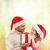 gülen · baba · kız · hediye · kutusu · aile · Noel - stok fotoğraf © dolgachov