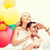 pár · színes · léggömbök · nyár · ünnepek · ünneplés - stock fotó © dolgachov
