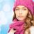 jonge · vrouw · winter · kleding · geluk · vakantie - stockfoto © dolgachov