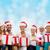 mutlu · aile · yardımcı · hediye · kutuları · Noel - stok fotoğraf © dolgachov