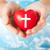ręce · serca · krzyż · symbol - zdjęcia stock © dolgachov