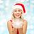 mooie · blond · hoed · Rood - stockfoto © dolgachov