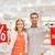 gelukkig · Rood · mall · verkoop - stockfoto © dolgachov