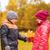 peu · garçon · automne · érable · laisse · fille - photo stock © dolgachov