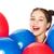 happy teenage girl with helium balloons stock photo © dolgachov