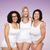 group of happy plus size women in white underwear stock photo © dolgachov