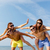 meninos · meninas · grupo · praia · adolescente - foto stock © dolgachov