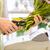 kéz · virágcsokor · virágok · közelkép · rózsák · szolgáltatás - stock fotó © dolgachov