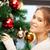 kobieta · christmas · zdjęcie · twarz · sexy - zdjęcia stock © dolgachov