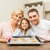 happy family making cookies at home stock photo © dolgachov