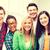 grupy · studentów · szkoły · edukacji · kobiet · szczęśliwy - zdjęcia stock © dolgachov