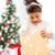 gülen · küçük · kız · hediye · kutusu · tatil · hediyeler · Noel - stok fotoğraf © dolgachov