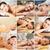 women having facial or body massage in spa salon stock photo © dolgachov