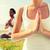 ręce · młodych · sportsmenka · szkolenia · fitness · instruktor - zdjęcia stock © dolgachov