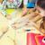 escuela · primaria · estudiantes · senalando · dedo · primario · educación - foto stock © dolgachov