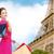 kadın · Paris · Eyfel · Kulesi · satış · indirim - stok fotoğraf © dolgachov