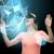 mulher · virtual · realidade · óculos · 3d · ciência · tecnologia - foto stock © dolgachov