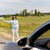woman hitchhiking and stopping car at countryside stock photo © dolgachov