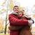 boldog · fiatal · pér · ölel · ősz · park · szeretet - stock fotó © dolgachov