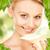 güzel · bir · kadın · çiçek · resim · kadın · mutlu · yeşil - stok fotoğraf © dolgachov