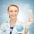 gülen · kadın · doktor · hapları · sağlık · tıp - stok fotoğraf © dolgachov