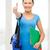 gülen · kadın · öğrenci · çanta · eğitim - stok fotoğraf © dolgachov