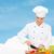 笑みを浮かべて · 女性 · シェフ · 料理 · 食品 - ストックフォト © dolgachov