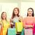 smiling teenage girls with many shopping bags stock photo © dolgachov